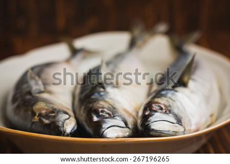 Delicious sea fish mackerel - stock photo