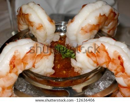 Delicious Shrimp Cocktail - stock photo