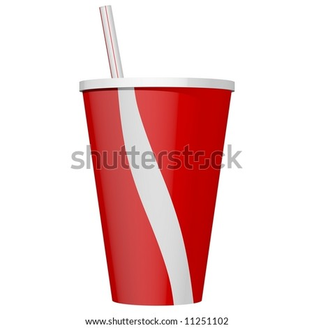 Delicious soda beverage isolated on white - stock photo