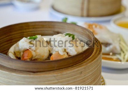 Delicious Steamed Dim Sum - stock photo