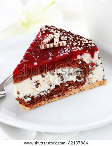 Delicious stracciatella birthday cake - stock photo
