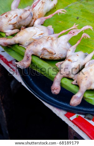 Delicious street food in Thailand, Chicken - stock photo