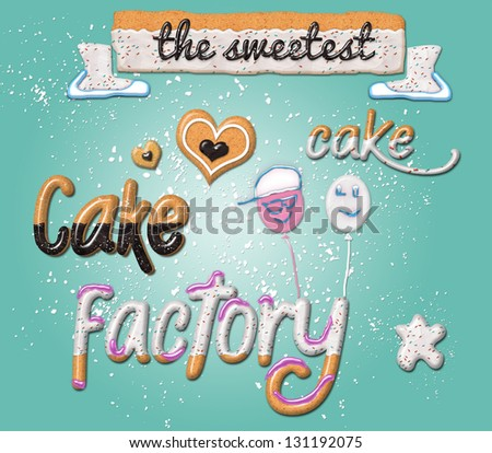 Delicious Sweet Candy Cake - Gifts, Party Favors, Holidays - stock photo