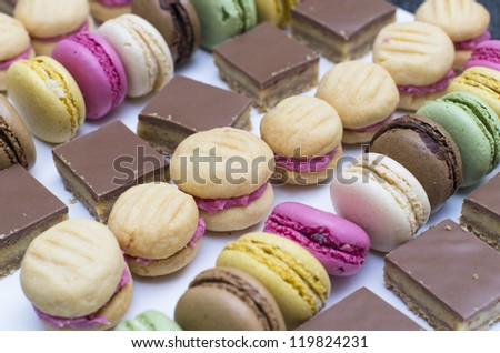 Delicious sweet treats - stock photo