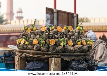 Delicious Tasty Sweet Potato, Lahore Pakistan - stock photo