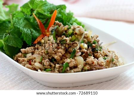 delicious thai food - stock photo