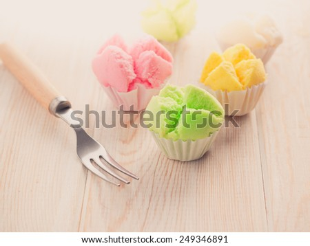 Delicious Thai sweet dessert - stock photo