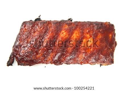 Delicious toast piece of pork ribs . - stock photo
