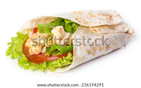 Delicious tortilla on a white background - stock photo