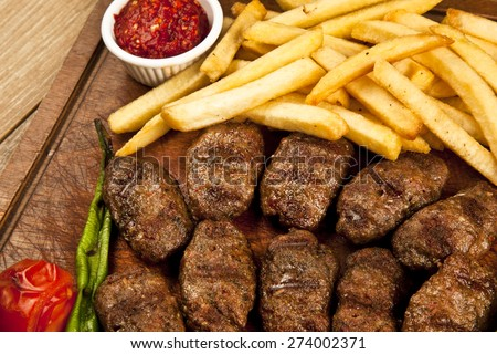 Delicious Turkish Kofte (meatballs) - stock photo