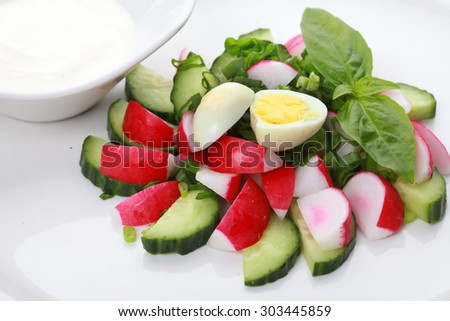 Delicious vegetable salad  - stock photo