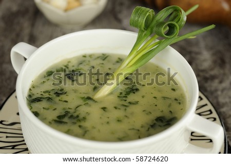 delicious vegetables soup - stock photo