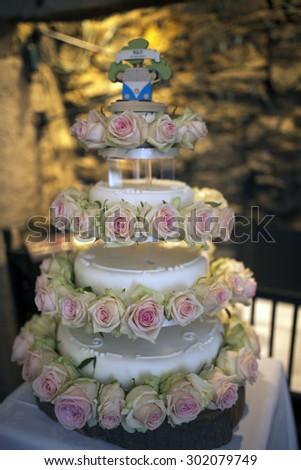 Delicious Wedding Cake - stock photo
