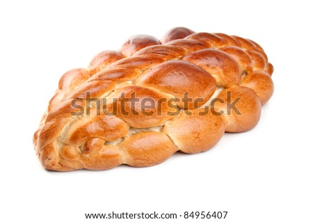 delicious wedding loaf isolated on a white background - stock photo