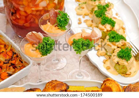 Delicous food on the party
