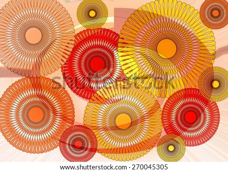 Delightfully enchanting   unique  modern    abstract design  with floral and   geometric  motifs superimposed   on a   plain  blurred    background ideal for  superbly    elegant  wallpapers. - stock photo