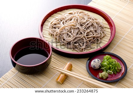 delisious buckweat noodles - stock photo
