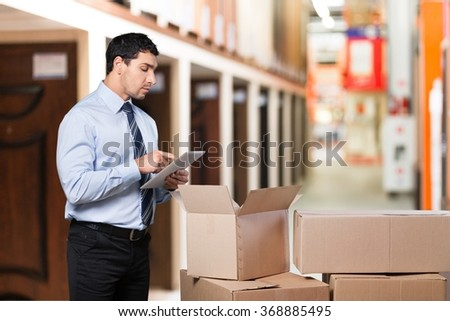 Delivering. - stock photo