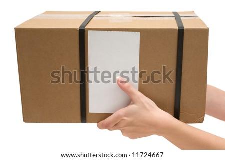 Delivering a Parcel - stock photo