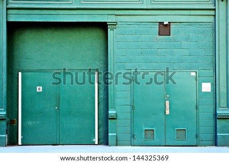 Delivery access in a back alley in New York City. - stock photo