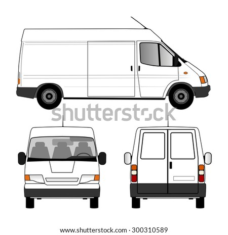 Delivery car - stock photo
