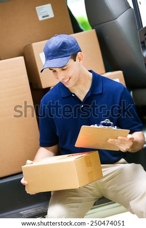 Delivery: Checking Address on Package