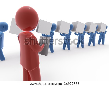 Delivery control - stock photo
