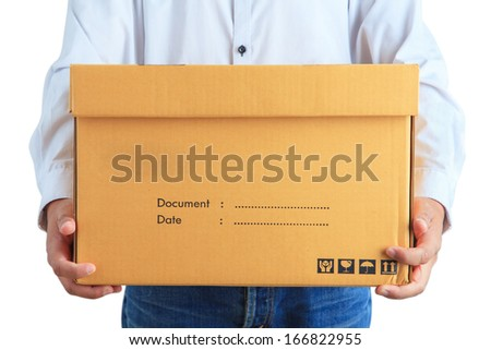Delivery man - stock photo