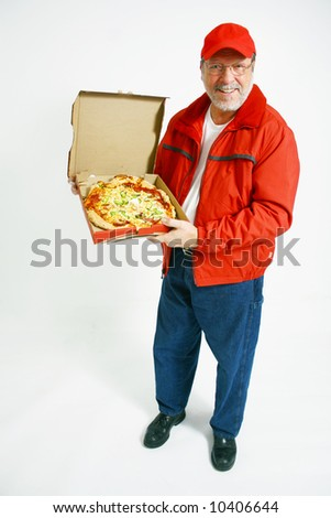 Delivery pizza - stock photo