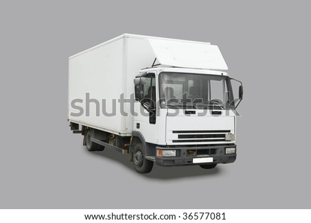 Delivery truck - stock photo