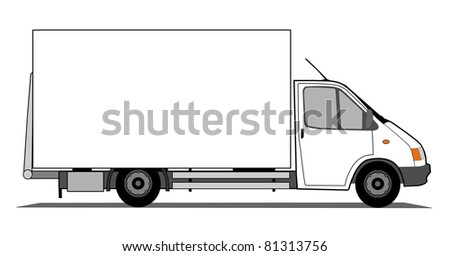 Delivery van - stock photo