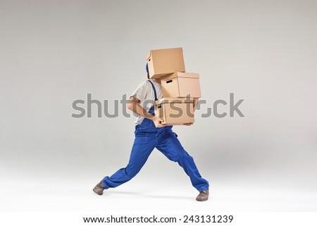 Deliveryman - stock photo