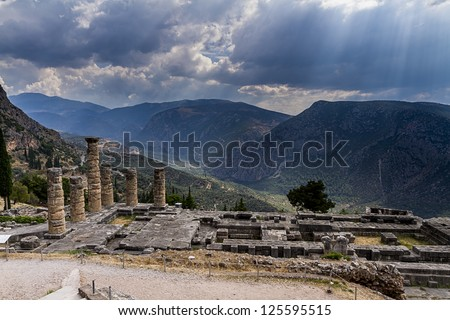 Delphi,Greece - stock photo