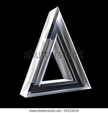 delta symbol in glass (3d) - stock photo