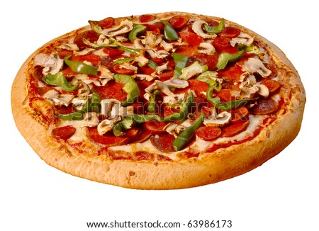 Deluxe Pizza - stock photo