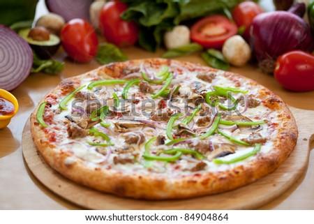 Deluxe Pizza 4 - stock photo