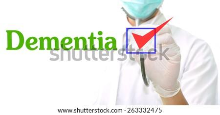 Dementia - stock photo