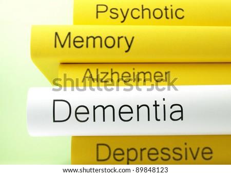 Dementia (book titles) - stock photo