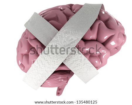 Dementia disease and a loss of brain function and memories as alzheimers as a medical health care icon of neurology and mental problems - stock photo