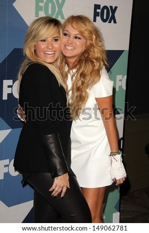 Demi Lovato and Paulina Rubio at the Fox All-Star Summer 2013 TCA Party, Soho House, West Hollywood, CA 08-01-13