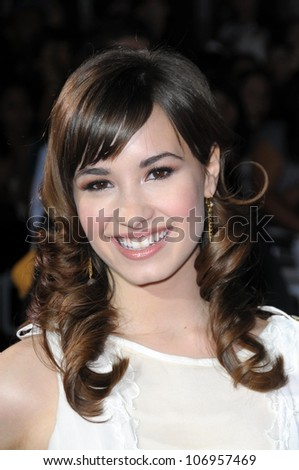 Demi Lovato  at the Los Angeles Premiere of 'Twilight'. Mann Village, Westwood, CA. 11-17-08 - stock photo
