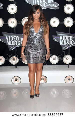 Demi Lovato at the 2011 MTV Video Music Awards Arrivals, Nokia Theatre LA Live, Los Angeles, CA 08-28-11