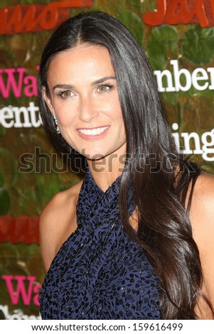 Demi Moore at the Wallis Annenberg Center For The Performing Arts Inaugural Gala, Wallis Annenberg Center For The Performing Arts, Beverly Hills, CA 10-17-13 - stock photo
