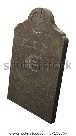 Demise of the Euro? europe in crisis - stock photo