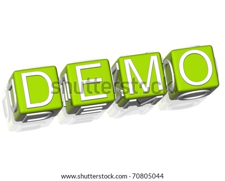 Demo - stock photo