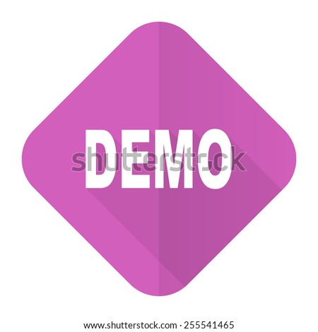 demo pink flat icon   - stock photo