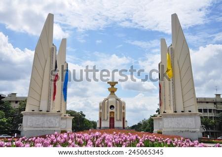 Democracy monument of Thailand - stock photo