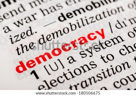 Democracy Word Definition In Dictionary - stock photo