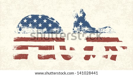 Democratic and Republican Political Symbols. Raster version, vector file available in my portfolio. - stock photo