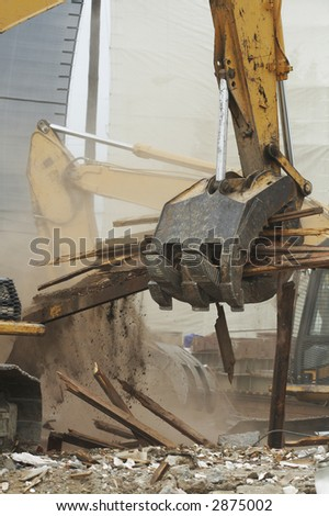 demolish - stock photo